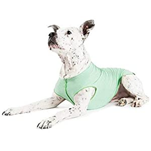 Gold Paw Sun Shield Dog Tee – T-Shirt for Canines – UV Protection, Pet Anxiety Relief, Wound Care – Prevents Foxtails, Alopecia – Machine Washable, All Season