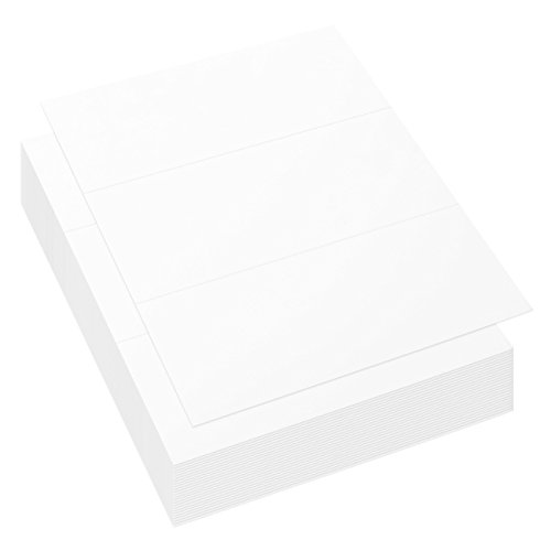 (100 Sheets Trifold Brochure Paper - Tri Fold Pamphlet and Flyer Paper for Creating DIY Brochures, 11 x 8.5 Inches)