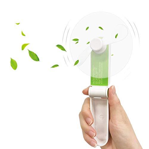 Mini Handheld Fan, edola 2-Speed Mini Portable Fan Battery Operated Personal Fan Electric Mini Hand Held Fan Rechargeable USB Hand Fan for Office Home Camping Travel Fan