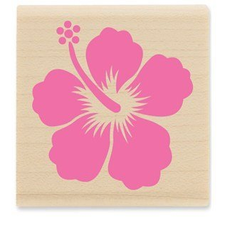 Hibiscus Rubber Stamp by CraftyCrocodile   B00WAA58GY