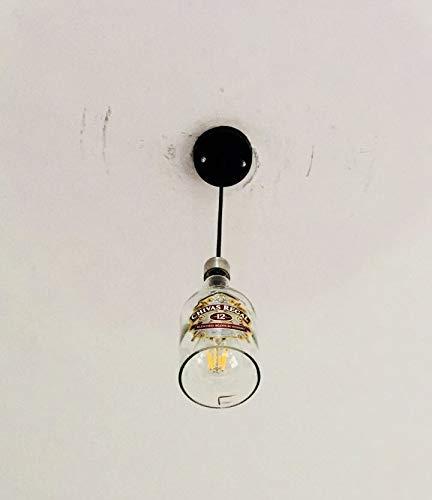 Ceiling Light fixture made from CHIVAS REGAL WHISKEY Bottle