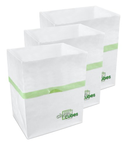 Clean Cubes 3-Pack Disposable Bathroom/Car/Baby Trash Cans, Mini