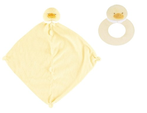 Super Soft Security Blanket with Matching Rattle Baby Gift Set : Yellow Duck