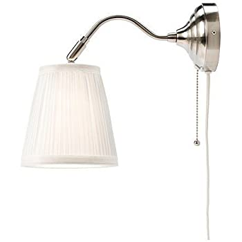 White Swing Arm Plug In Wall Lamp By Barnes And Ivy Wall Sconces Amazon Com