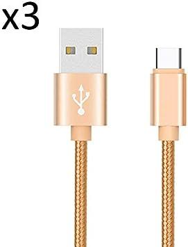 Lote de 3 Cables de Metal de Nailon Tipo C para Nokia 7.2 ...