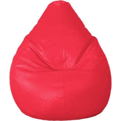 Madaar Homez Artificial Leather Teardrop Pink Bean Bag Cover  Jumbo