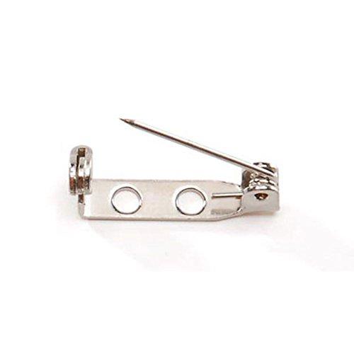 (Pin Backs - Nickel Plated Steel - 3/4 inch - 12)