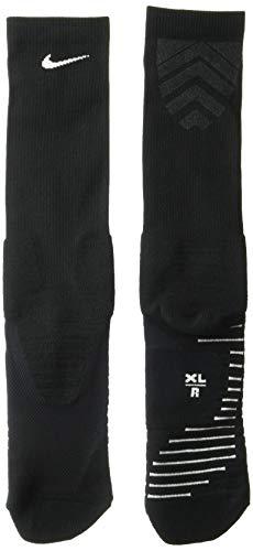 (NIKE Unisex Vapor Crew Socks (1 Pair), Black/White,)
