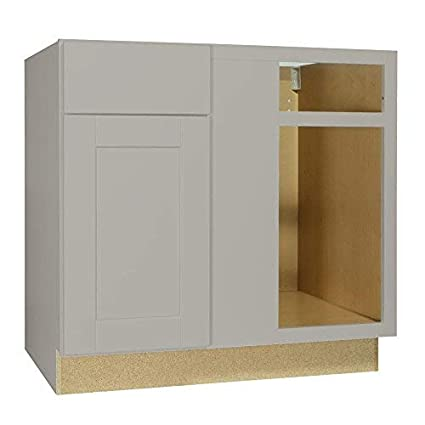 Surprising Amazon Com White Shaker Blind Corner Base Cabinet With Self Interior Design Ideas Apansoteloinfo