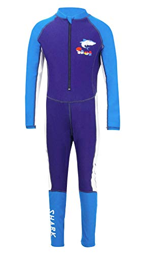 Feet Long Sleeve - Boys Wetsuit Long Sleeve Foot Stirrups Sun Protection Quick Drying Splice Swimming One-Piece Bodysuit 2-3T Blue