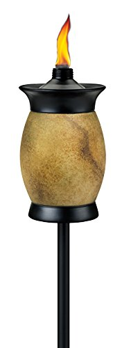 Tiki Brand 64-inch Resin Jar Torch 4-in-1 Travertine Color