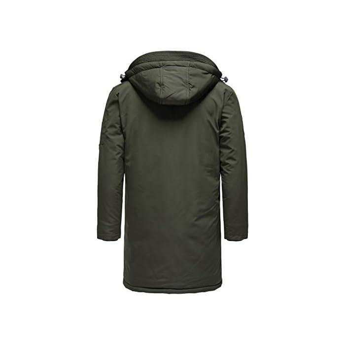31 VYRLA8oL Abrigo   Parka de invierno para hombres de la marca Redbridge Chaqueta de invierno cálida y moderna con capucha extraíble y muchos bolsillos prácticos 100% Poliéster