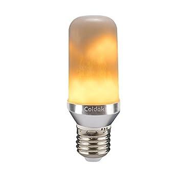 Bombilla decorativa con efecto titileo retro, Coidak LED, casquillo E27, llama, bombilla