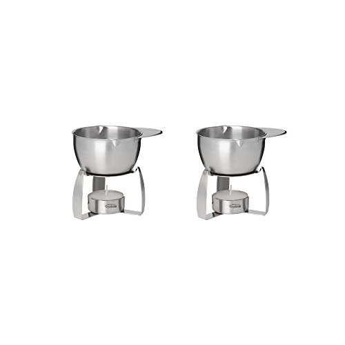 Trudeau Stainless Steel Butter Warmer with Tea Light - Set of 2