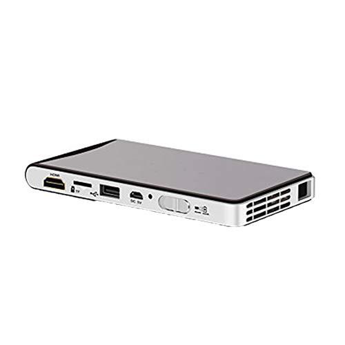 RU Projector Mini Beamer, WiFi Verbindung,LED 1080P HD-Projektion, Kompatibel mit USB/HAMI/TF/DC