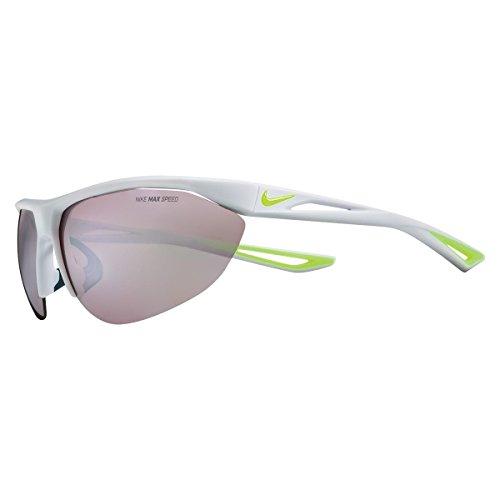 Nike Mens Tailwind Swift Mirrored Wraparound Sport Sunglasses Gray O/S