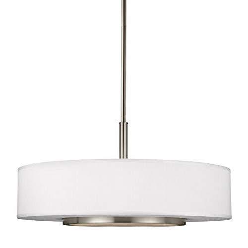 Sea Gull Lighting 6628003-962 Nance Three-Light Pendant Hanging Modern Light Fixture, Brushed Nickel Finish