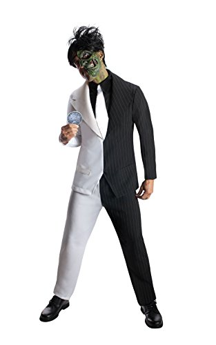 [Rubie's Costume Men's Dc Super Villains Adult Two-Face, Black/White, Large] (Two Faced Halloween Costumes)