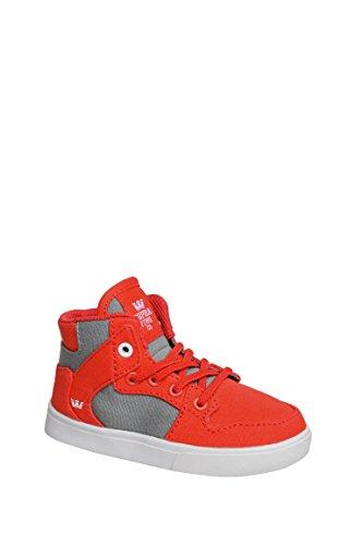 Supra Kids Baby Boy's Vaider (Toddler) Red/Dark Grey/White Shoe