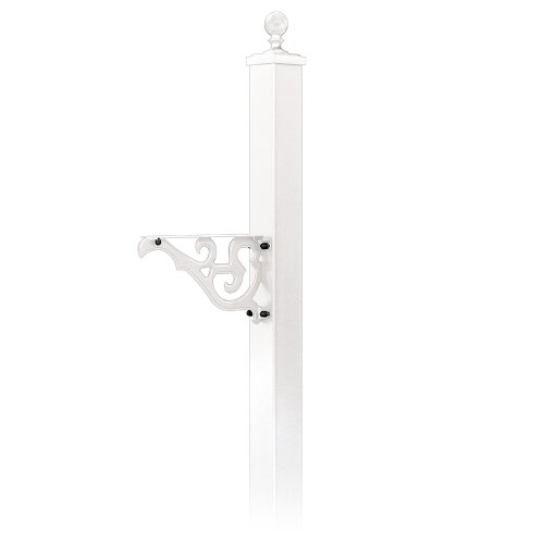 - Decorative Mailbox Post, White, 85 in. H
