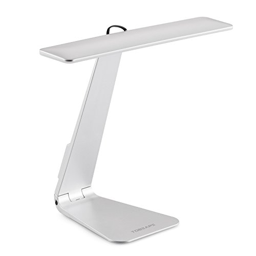 Tobeape Desk Lamp, Style to Match Macbook, Ultra-thin Table Lamp, 28 LED Lights with 3 Level Dimming, Portable Rechargeable and Touch-Sensitive Control - Silver