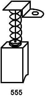 6,3x6,3x10,6mm 2.4x2.4x3.9 Balais de Charbon pour FLEX WS702VEA coupeuse//scie