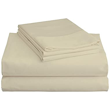 Brielle 100-Percent Rayon Bamboo Sheet Set, Queen, Ivory