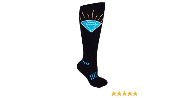 a1dae7b0ca9 MOXY Socks Black Knee-High The Brilliant Sapphire Blue Diamond Fitness  Deadlift Socks