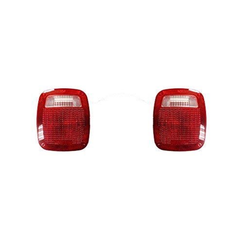 Fits Jeep Wrangler 1987-2006 Pair of Tail Light Lens Only W/GASKET& SCREW R=L Driver and Passenger Side CH2808106, CH2808106
