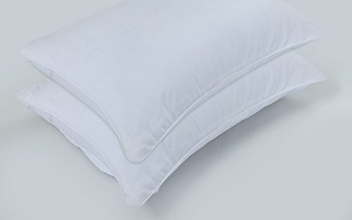 Sapphire Home Collections 4-Pack Premium 100% Cotton Allergy Control Pillow Protectors. Hypoallergenic Dust Mite & Bed Bug Resistant 400 Thread Count Zippered Pillow Covers Standard Size 20