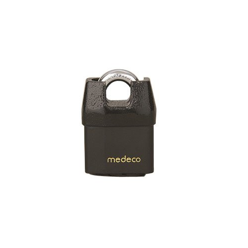 Medeco M3 5/16'' Shrouded Boron Padlock, 3/4'' Shackle Clearance, Indoor/Outdoor