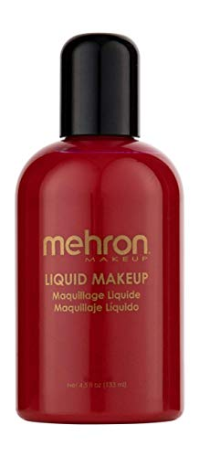 Mehron Makeup Liquid Face and Body Paint (4.5 oz) (RED) -
