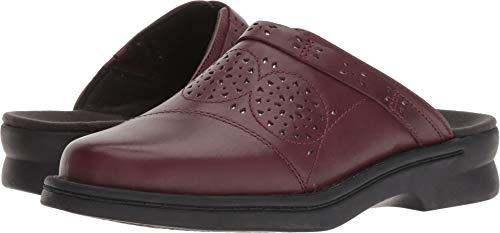 CLARKS Women's Patty Renata Clog, Burgundy Leather, 070 M US