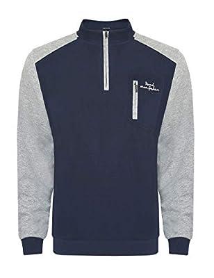 Ruiqi Reach Men Athletic Sweatshirts Long Sleeve Zipper Outwear Sport Cotton Shirt Pocket