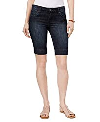 Kut From The Kloth Petite Natalie Denim Shorts Dark Stone Base Wash 10p