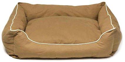 Dog Gone Smart Lounger Bed, L, Khaki, My Pet Supplies