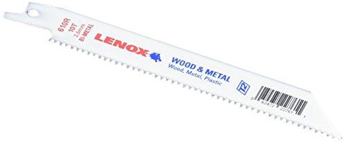 (LENOX Tools General Purpose Reciprocating Saw Blade with Power Blast Technology, Bi-Metal, 6-inch, 10 TPI, 50/PK)