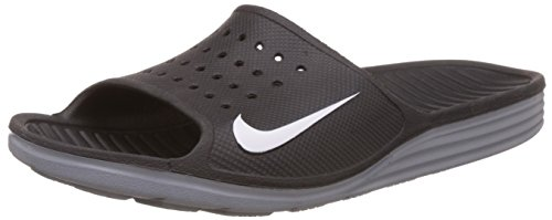 Nike Solarsoft Slide Zapatillas de deporte, Hombre Black/White
