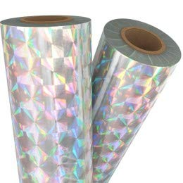 Spin Silver Holographic Laminating/Toner Fusing Foil (8