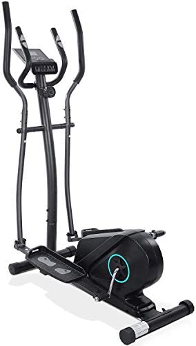 Crosstrainer with Digital Monitor Display Ellipsentrainer,16 Einstellbare Widerstandsstufen fitnessgeräte Cross Trainer Compact Digital Monitor Display Cross Trainer