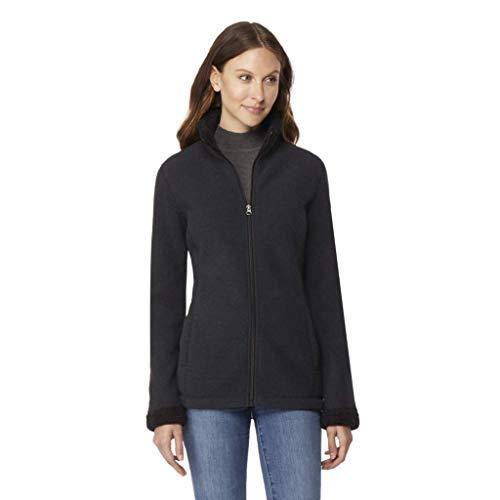 Lined Fleece Sherpa - 32 DEGREES Womens Sherpa Fleece Jacket, Jet Black, XSmall