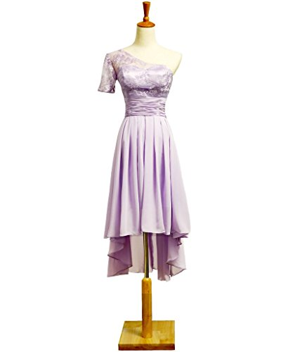 Demoiselle D'honneur De Mariage Superbe Mousseline De Dentelle Robe Robes De Soirée De Soirée Courte De Bal De 5 #