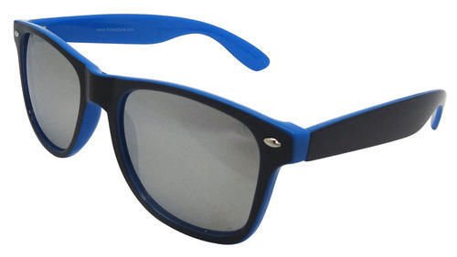 Two-toned Black and Blue Retro Style Sunglasses