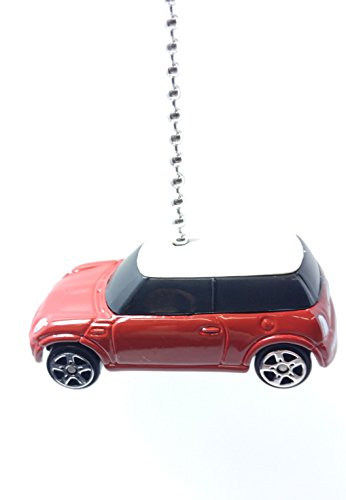 Maisto Die Cast 1:64 Ceiling FAN PULLS Beaded Chain pull (Red White BMW Mini Cooper)
