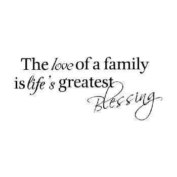 Amazon The Love Of A Family Is Life's Greatest Blessing Wall Amazing Lifes Great Quotes