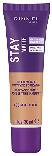 Rimmel Stay Matte Foundation, Natural Beige, 1 Fluid Ounce