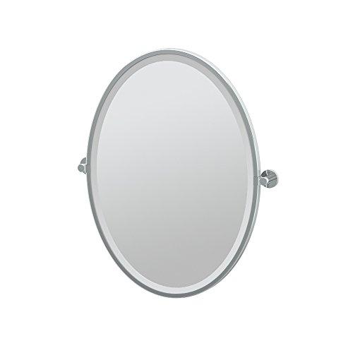 Gatco 4689F Channel, Framed Oval Mirror, 27.5