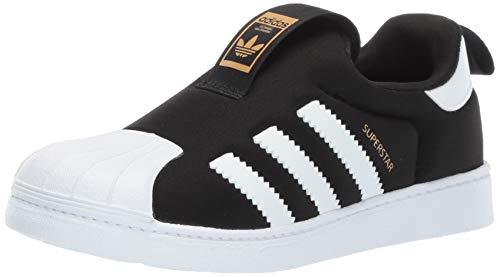 b3e7fad90c9cd adidas Originals Baby Superstar 360 Running Shoe, Black White, 4K M US  Toddler
