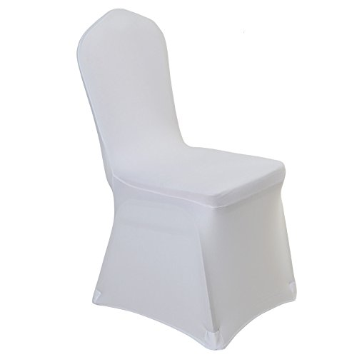 White Dining Room Chair Covers: Stretch Spandex Dining Chair Cover Covers For Wedding