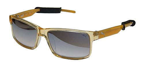 Puma Pheasant PU15157 15157 OR Orange Square Sunglasses - For Puma Sunglasses Men